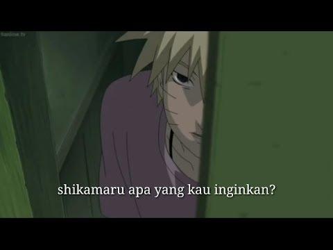 Shikamaru menghibur naruto yang bersedih atas kematian jiraya