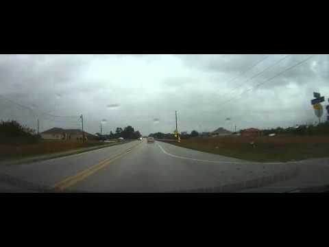 Driving from Lehigh Acres to Hardee County, Florida in a severe storm