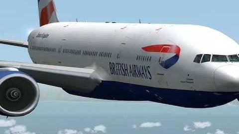 fs2004 british airways b777 virtual cockpit heathrowmumbai