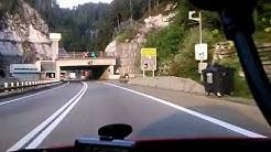 Karawankentunnel Border Crossing Österreich Slowenien Grenze A11.at A2.si