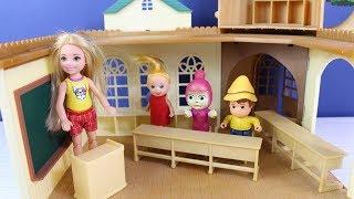 Maşa Heidi Pter Chelsia Okula Gidiyor Eğitici Çocuk Videoları Oyuncak Oynatma