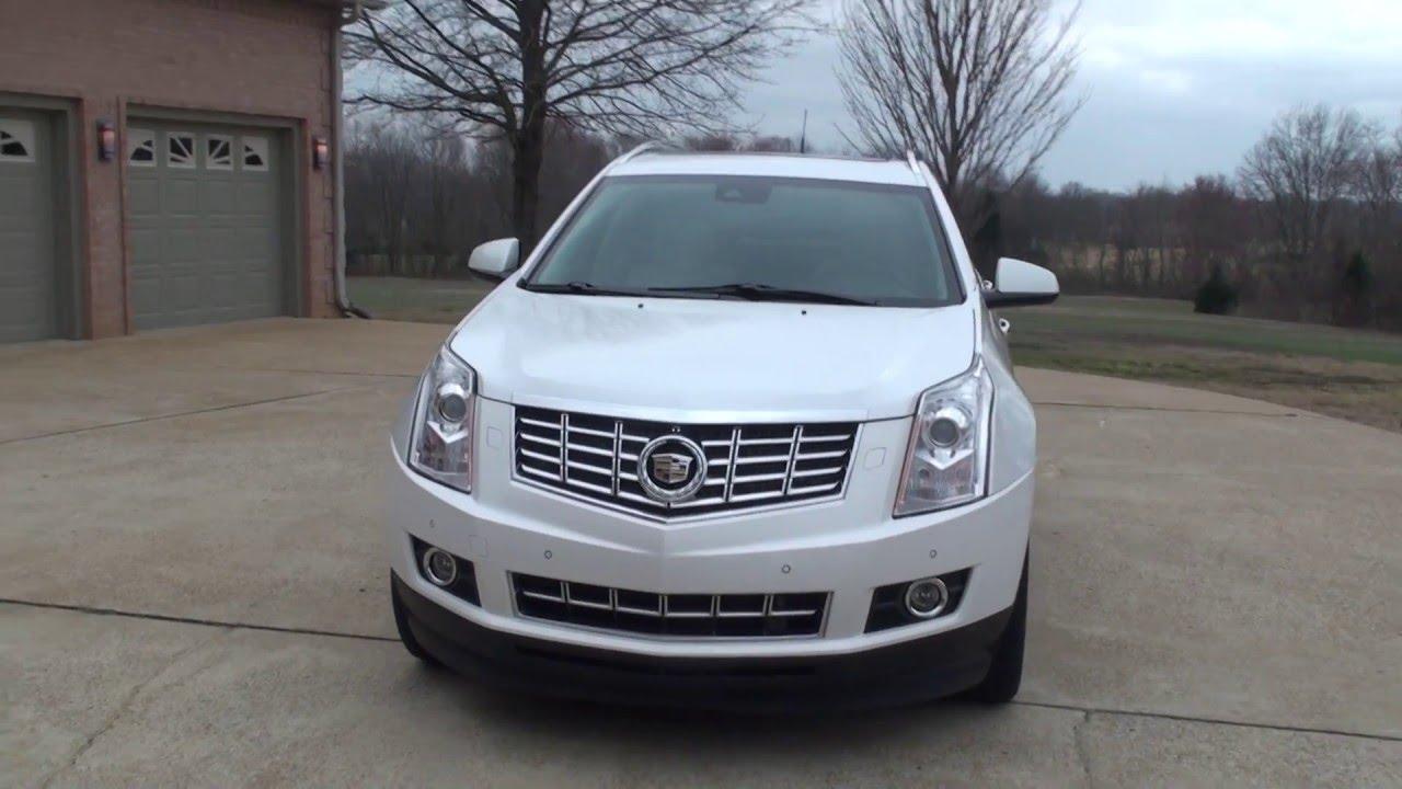 2013 Cadillac Srx 4 Premium Collection Platinum White Dvd