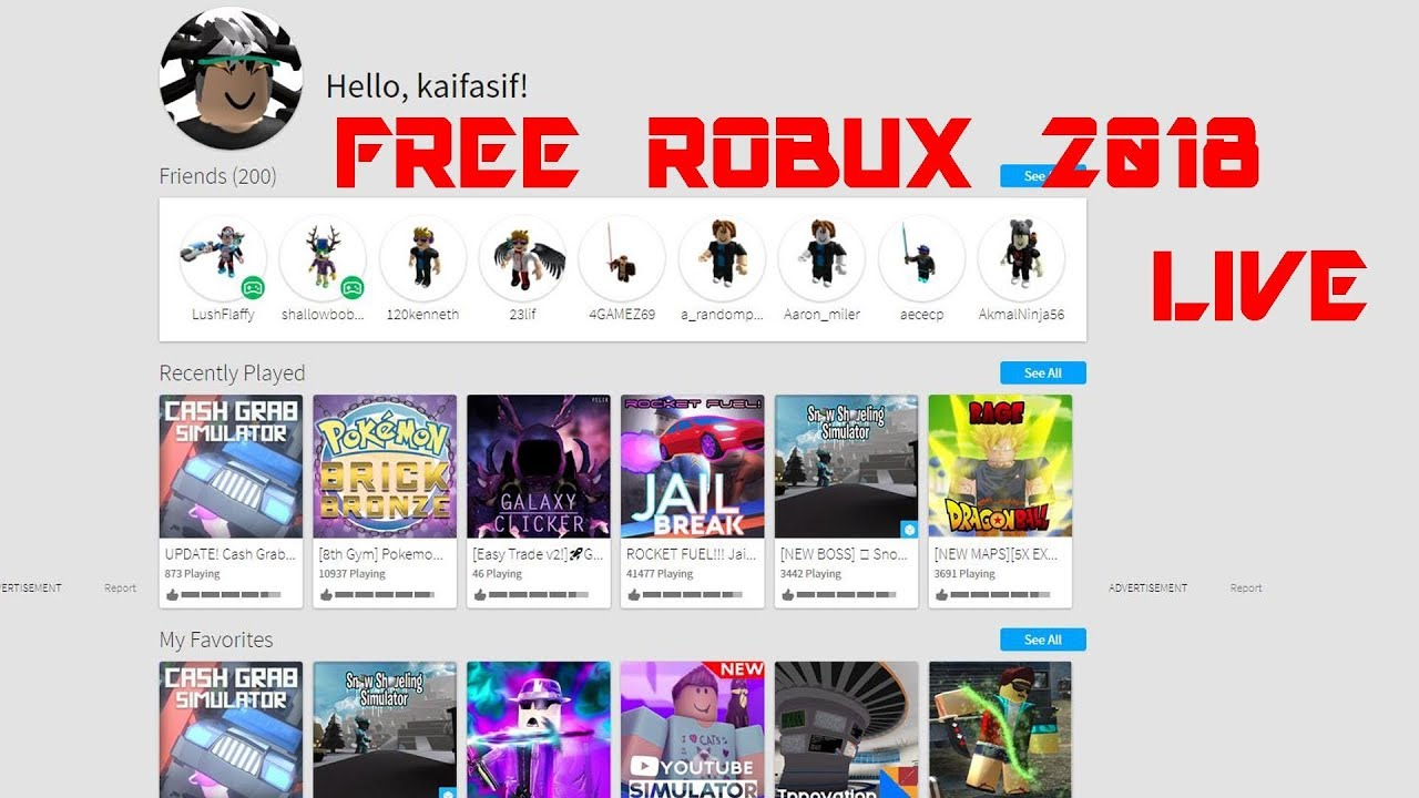 Roblox Free Robux Codes 2018 With Gameplay Live With Game Request