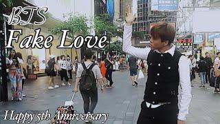 BTS - FAKE LOVE PUBLIC DANCE CHALLENGE