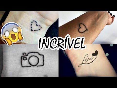 Como Fazer Tatuagem Falsa Em Casa Que Parece Real I Fácil E Rápido
