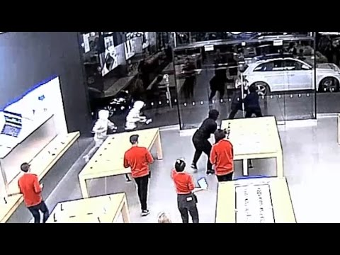 Watch an Apple store get robbed in 12 seconds | CNBC International