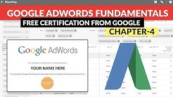 Google Adwords Fundamentals | Free Certification from GOOGLE | Chapter - 4  Digital Marketing Series
