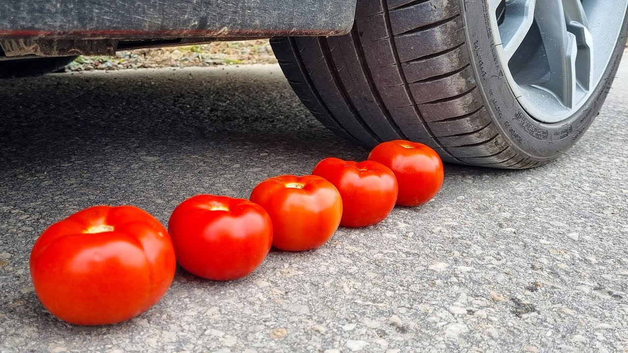 Crushing Crunchy & Soft Things by Car! EXPERIMENT CAR vs POTATO