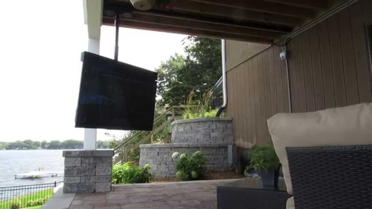 Skyvue Tv On Moveable Track Mount Youtube