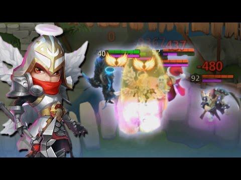 Castle Clash Michael Gameplay (OP HERO!)