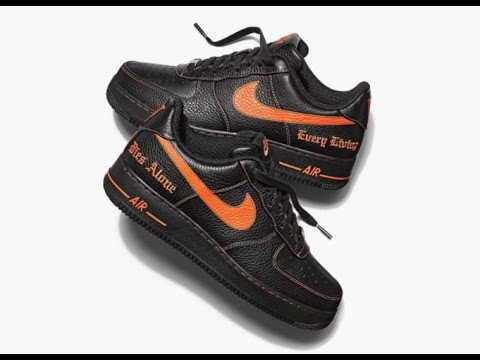 11010026f950 VLONE X NIKE AIR FORCE 1 LOW  Leaked footage at replica factory ...