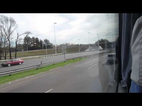 Tienda León Bus Service from Ezeiza Airport to Jorge Newbery Airport, Argentina - May 13, 2015