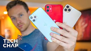 Download iPhone 11 vs 11 Pro vs 11 Pro Max - FULL REVIEW! | The Tech Chap Mp3 and Videos