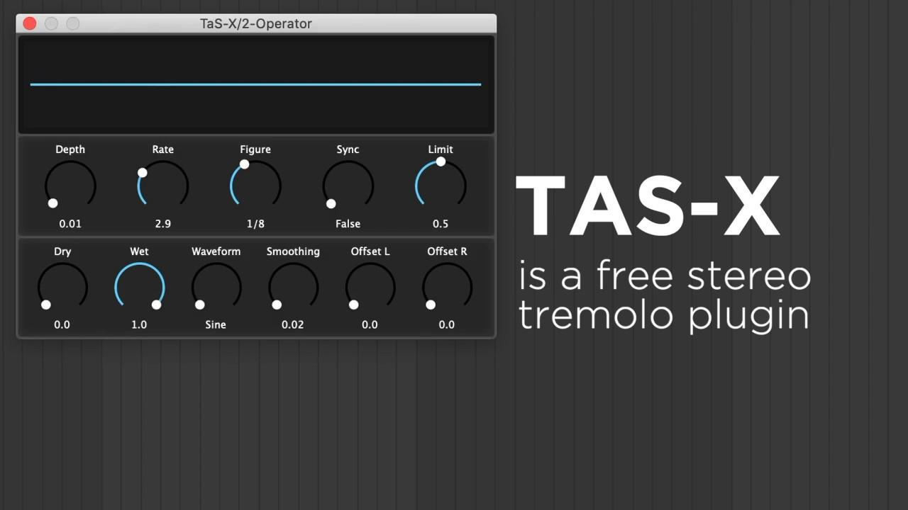 Beijaflor TAS-X Is A Free Stereo Tremolo & Slicer Plugin PC / Mac!