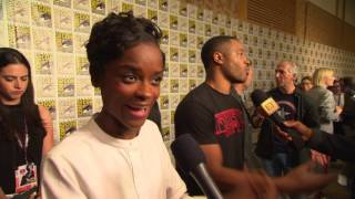 connectYoutube - Black Panther: Letitia Wright Comic-Con 2017 Movie Interview