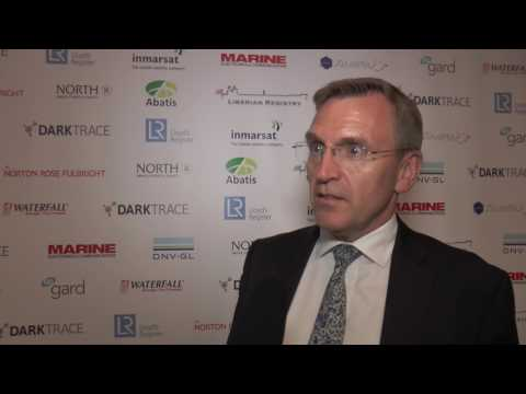 Phillip Roche of Norton Rose Fulbright speaking at the European Maritime Cyber Risk Summit