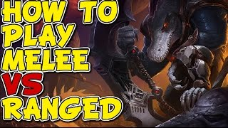 HOW TO PLAY MELEE VS RANGED! RENEKTON VS KAYLE! - Unranked to Masters #85