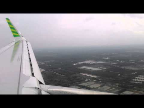 Landing Kualanamu International airport Medan with Citilink QG9838