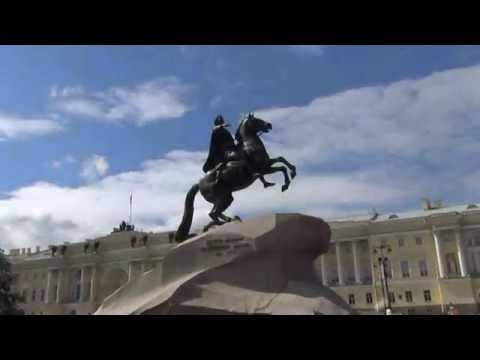 Saint Petersburg Admiralty Building and Bronze Horseman