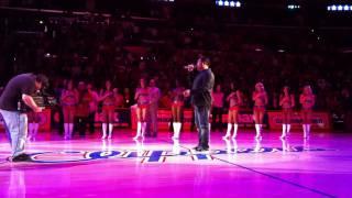 Esera Tuaolo sings National Anthem