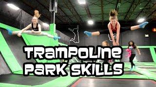 flips gymnastics skills at the trampoline park   bethany g