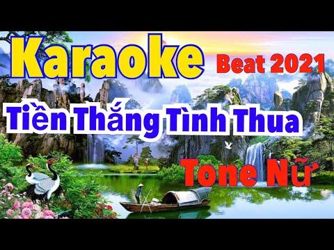 Tiền Thắng Tình Thua II karaokeTone Nữ Nhạc Sống II PHUC TRAN II