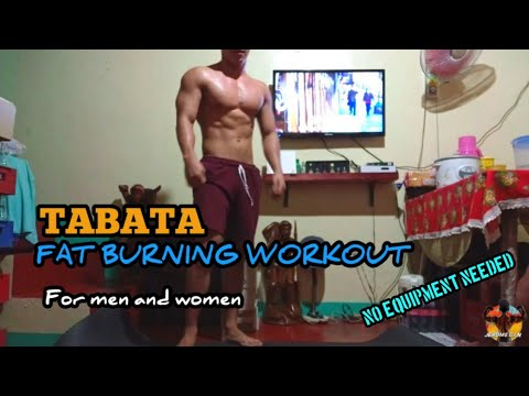 tabata  fat burning workout for men and women  no