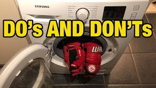 How to clean hockey gloves without ruining palms - do