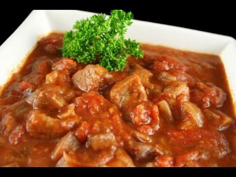 Венгерский суп гуляш с говядиной кулинарный рецепт