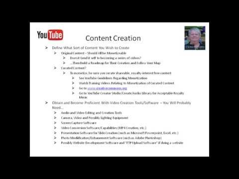 Video 9 - Building a YouTube Based Content Creation Business Online