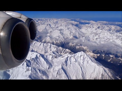 Swiss Avro RJ100 - EPIC crossing of the Alps from Florence / Tuscany