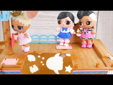 Barbie Boat Family Once Upon a Holiday Story with Goldie & LOL Surprise