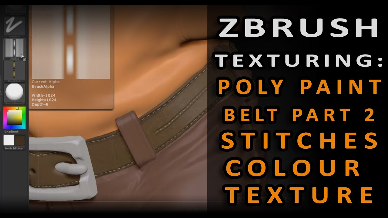 ZBrush Texturing: Stitches Colour Texture