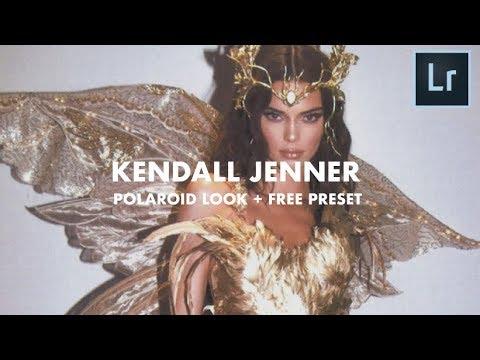 KENDALL JENNER inspired Polaroid Look tutorial + FREE PRESET
