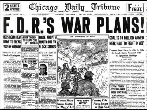 Spinning newspaper Chicago Tribune