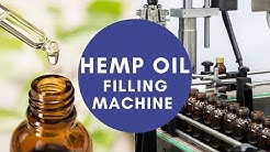 Reliance 2 Oz tincture CBD hemp oil filling machine, glass dropper bottle packing line