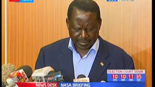 Raila Odinga reveals a signed letter on elections rigging
