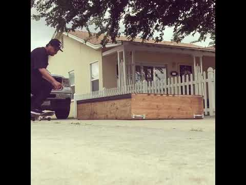 50-50 grind on a box