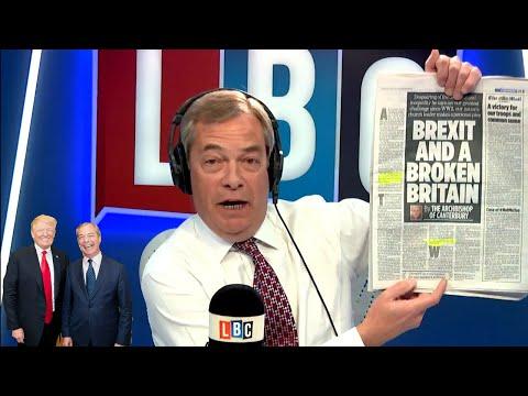 The Nigel Farage Show On Sunday: Nigel Farage U.K Ambassador to U.S? 1/2 LBC - 25th February 2018