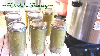 ~home Canned Lemon & Garlic Zucchini Soup With Linda's Pantry~