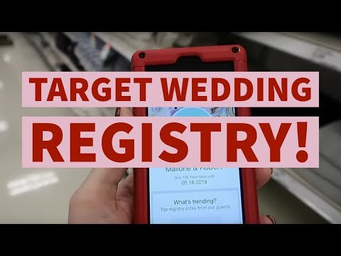 PUTTING THINGS ON OUR TARGET WEDDING REGISTRY!!! 🎯