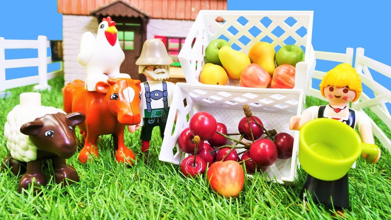 Spielzeug Video auf Deutsch. Wir gehen auf den Bauernhof. Lehrreiches Kindervideo