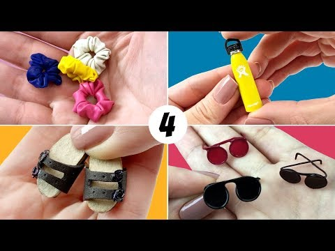 4 VSCO Girl DIY Miniature Easy to Do for your Barbie Doll