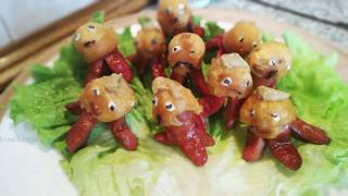 Рецепт сосисочные осьминоги