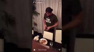Joel Embiid Having A Meatball Eating Contest