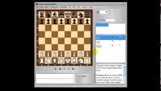 Chess Openings Wizard Introduction with a sample chess opening