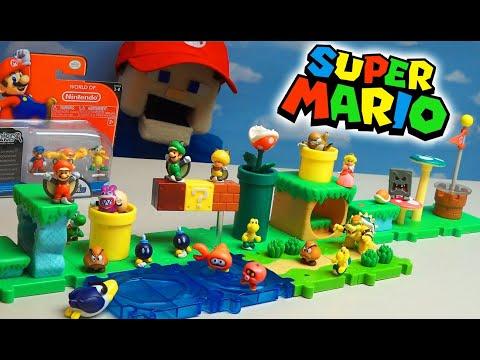 Super Mario Bros Micro U Series 1 Acorn Plains Figure Packs! World Of Nintendo Unboxing
