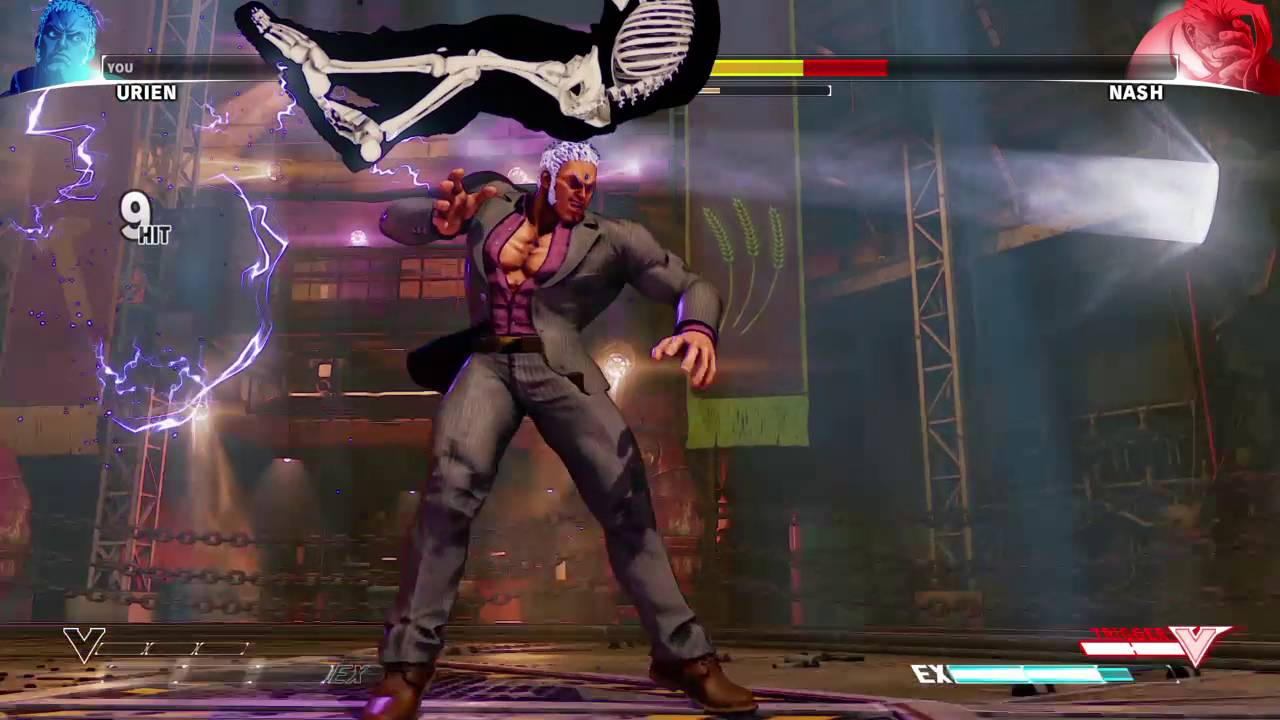 Street Fighter 5: Urien Double Aegis Reflector Juggle ...