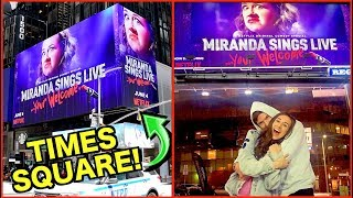 I'M ON A BILLBOARD IN TIMES SQUARE AND IN HOLLYWOOD!