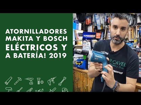 ⚡Atornilladores MAKITA y BOSCH Eléctricos y a batería! 2019